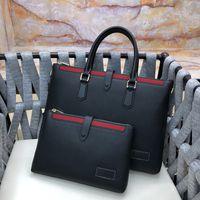 Vente chaude marque design hommes porte-cascule noir véritable cuir de luxe de luxe sacs à main hommes d'entreprise sac de sac à ordinateur portable sac de messagerie