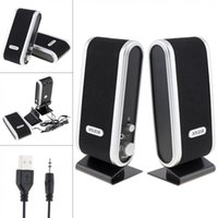 Black HY-218 .0 Altavoces de alimentación USB con cable Estéreo 3. Jack de audio para PC Ordenador portátil Mac LJ201027