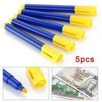Gelstifte 5 Stück / Set Wasserbasis Fälschungsstift Geld Bill Detektor Marker Note Bank Tester I8Z71