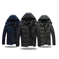 VVTS Men Plus Размер Parkas мужская повседневная толстая хлопчатобумажная куртка с капюшоном плюс удобрения шляпа съемная куртка 4XL верхний слой 1