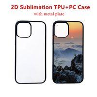 30PCS Retail 2D Sublimation Case för iPhone 11 Pro XR X Silicone TPU + PC-fodral för värmeöverföringstryck med aluminiumskikt för 7 8 plus