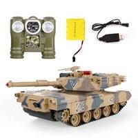 Топ дистанционного управления резервуара против RC Tanks Parent-Child против инфракрасного пульта дистанционного управления с башни модель бака Battle Toy Car 201208