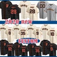 San Custom Francisco Baseball Jersey 28 Buster Posey 22 Will Clark 8 Hunter Pence 47 Johnny Cueto 45 Santiago Casilla 41 Mark Melancon Duffy
