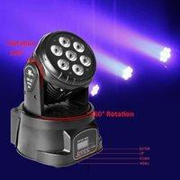 80W 7-RGBW LED Auto / Voice Moving Head Light Control DMX512 Mini Lampa (AC 110-240V) Svart högkvalitativ scenbelysning