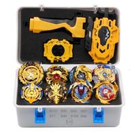 Takara tomy tops lançadores bey bay estourando brinquedos com starter e arena metal deus girando top blade lâminas brinquedos y200109