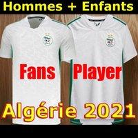 Vista fãs Versão Algerie 2020 2021 Jerseys de futebol Mahrez Feghouli Bennacer Atal 20 21 Argélia Futebol Kits de Futebol Camisa Men + Conjuntos de Crianças