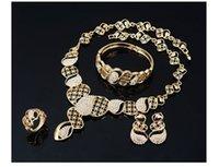 up-market diamond crystal bride wedding set necklace earings bracelet ring