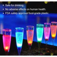 Acqua LED Vino Champagne Birra Birra Vino Coppa di Vino Blauto Occhiali Acqua Liquido Attivato Lampeggiante Light-Up Cups Festival Party Drinkware XD23088 KDAW9