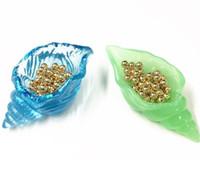 Смола DIY Эпоксидная зеркальная плесень Трехмерное кольцо для хранения яйцеклеток яйца Conch Marine Silicone