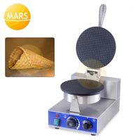 Elektrikli Dondurma Koni Makinesi Makinesi Stroopwafel Syrup Waffle Baker Yapışmaz Waffle Koni Pişirme Demir Plaka Kek Fırın1