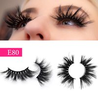 E80 Lash Vendors 25mm 27mm Mink Fur Eyelash 100% Real handma...