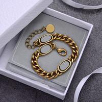 Gioielli Nuovi prodotti insieme collana braccialetto unisex della collana del modo di alta qualità Ottone Materiale Oro alimentazione collana placcata