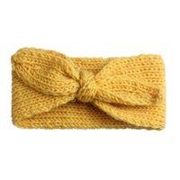 Bambino carino coniglio orecchio lana lana a maglia fascia per bambini ragazze solido colore caldo hairband bambino carino h jlllusx