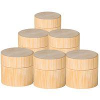 Crème pour le visage Bouteille en bambou Costume Voyage bambou cosmétiques main Organisateur en bouteille Portable Set bouteille de maquillage à laver