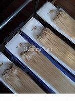 """100g 20 """"22""""마이크로 링 루프 비즈 레미 인간의 머리카락 확장 100s # 613 Blach Blond DHL에 의해 무료 배송"""