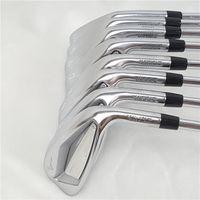 New Golf Irons de fer Golf Clubs Set Golf Forged Irons 4-9PG R / S Flex Acier / graphite avec tête couverture d'arbre