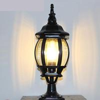 Antik Bronz Avlu Aydınlatma Dikey Su Geçirmez Açık Duvar Lambası LED Ayağı Işık Peyzaj Lamba Bahçe Aydınlatma Lamparas