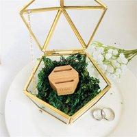 Portacuratore personalizzato anello di nozze, scatola di vetro personalizzata scatola di vetro scatola di vetro geometrica scatola di vetro, gioielli personalizzati