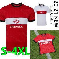 2021 Spartak Moscow Soccer Jerseys Home Red Promes Bakaev Zobnin Schürrle Dzhikiya قمصان بعيدا أبيض رجل كرة القدم
