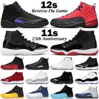 جديد أحذية كرة السلة للرجال المدربين jumpman 11 11 ثانية 25th الذكرى 12 12 ثانية الظلام كونكورد عكس الانفلونزا gam النساء retroes الرياضة أحذية رياضية