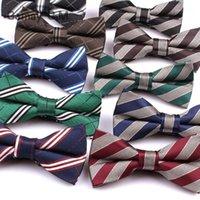 Шея галстуки бренда мужская бабочка классические рубашки бабочка галстук для мужчин деловые свадьбы полиэстер бандит взрослый полосатый Cravats1