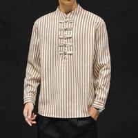 MrGoldenBowl Striped Men's pullovers Shirts 2020 Harajuku Men Casual Long Sleeve Shirt Tops Streetwear Man Oversized Blouse