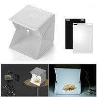 Lichtständer Booms Tragbare DIY LED Studio Box 6000k Mini Faltbare Pografie Zelt Schwarz Weiß Hintergründe USB für Stillleben POGRY11