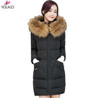 M-3XL Parka Coat 2018 Thick Warm Slim Down Parka Women Long Hooded Big Fur Collar Coat Winter Oversized Female Jacket Outwear1