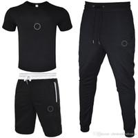 Мужчины Cousssuit 2020 Футболка + короткие брюки + длинные брюки 3 частей наборов сплошной цветной наряд подходит высокое качество трексец