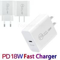 18W USB C壁の充電器クイックチャージャー3.0 USBタイプ-C PD充電器の小型ポータブル電話急速充電iPhone 12 11 Pro Max Huawei Xiaomi