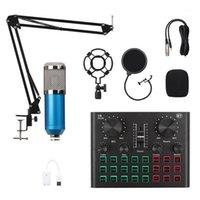 BM800 ميكروفون خلاط الصوت دي جي ميكروفون الوقوف المكثف usb اللاسلكية karaoke ktv تسجيل المهنية حية بلوتوث soundcard1