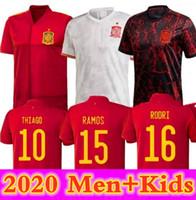 20 21 Legatore Versione SP Ain Soccer Jerseys Ram Os Thi fa 20 21 Team nazionale Diego Costa Rodri Men Bambini Camicia da calcio Camisetas de Fútbo