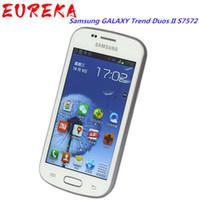 Samsung Galaxy Trend Duos II S7572 3G WCDMA الهواتف المحمولة 4G ROM 4.0inch مجدد الهاتف الأصلي مقفلة
