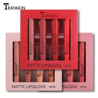 Teeyason Sex Matt Flüssig Lippenstift Set Lipgloss Set Samt Foggy Langlebiger Make-up Matte Lip Gloss Set