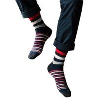 2020 мужчин Новое развитие мужчин красочные осенние мода цвет полосатый так носки в трубке вскользь хлопчатобумажные носки смешно # G9551