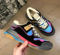 Ultrapace Sneakers TPU 하단 Luxurys 빈티지 러너 트레이너 망 아파트 스케이트 디자이너 여성 인쇄 가죽 스웨이드 반사 캐주얼 신발