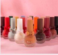 Özel Etiket Mat Oje Soyulmaz Su Bazlı Oje Erik Renk Uzun Ömürlü Su Geçirmez 20 Renkler Nail Art Lehçe
