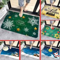 Porta de Inverno Bath Promoção de Natal Mats Mats Kitchen Mat dos desenhos animados impressão flanela Tapete antiderrapante Mat Natal Decoração Início