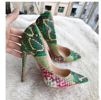 Red Bottoms единственный роскошный дизайн Высокие каблуки Toe Pumps Остроконечные женщин Свадебное платье обувь плюс размер 45 8см 10CM 12CM свободную перевозку груза оптом