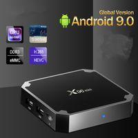 مربع X96 X96mini الجديد أندرويد 9.0 الذكية TV BOX S905W رباعية النواة وسائل الإعلام دعم 2.4GHZ لWIFI قمة مجموعة BoxDongle 4K ميديا بلاير