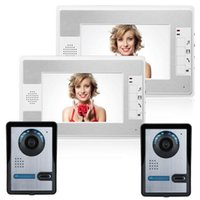 "Video-Door-Telefone 7 ""Intercom Telefonsystem Kabelgebundene Türklingelkamera Home Private Villa Gate Entry Security Kit1"