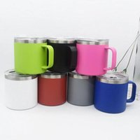 14oz Double Wall Vacuum Coffee Mug with Sealed Slide lid Sta...