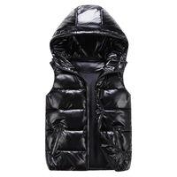 남성 조끼 겨울 패션 실버 남성 솜 패딩 후드 코트 민소매 재킷 캐주얼 두꺼운 조끼 남성 의류