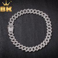 The Bling King King 20mm Prong Cuban Collana Collana Collana Fashion Hiphop Gioielli 3 Fila Strass Strass Isciù Collane per uomo CJ191116