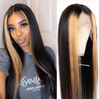 MANTENIMIENTO MODERNO 13X4 Pelucas de encaje del cabello humano recto 13x4 Pelucas trenzadas para mujeres negras Pelucas de pelo humano Pelucas rubias 4/27