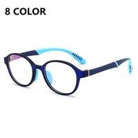 어린이 안티 블루 레이 안경 컴퓨터 비디오 게임 고글 유연한 실리콘 프레임 안경 어린이 블루 라이트 블로킹 안경