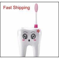 Dessinateurs de dessin animé Forme 4 trous Titulaire de la brosse à dents Support de brosse à brosse de brosse à dents Thée de rasage Rasoir Rasoir Porte-rangement pour Bathr Qylije BDE_LUCK