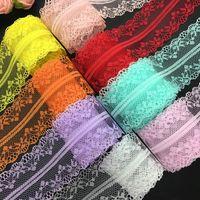 10 MM Handicrafts bilaterais de 40mm bordados bordados Laço de renda de laço de parede de parede / aniversário / Natal / decorações de arco JF410