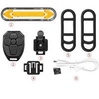 Bicicletta Taillight USB LED Telecomando wireless Riding Mountain Bike Cornering Lights Accessorie Lampada all'aperto Impermeabile Vendita calda 33Qx m2