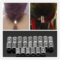 Random 8pcs/set Antique Sliver/antique Bronze Viking Runes Nordic Beard Beads Celtic Knot Hair Beads DIY Bracelets Necklace Bead